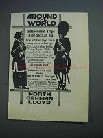 1914 North German Lloyd Cruise Ad - Around the World