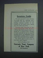1914 Guaranty Trust Company of New York Ad - Investors