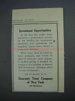 1914 Guaranty Trust Company of New York Ad - Investment