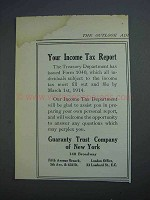 1914 Guaranty Trust Company of New York Ad - Income Tax