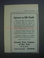 1914 Guaranty Trust Company of New York Ad - Idle Funds