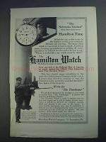 1913 Hamilton 12-Size Watch Ad - The Nebraska Limited