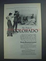 1913 Rock Island Lines Ad - Our Party in Colorado