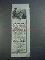 1913 Union Pacific Railroad Ad - Colorado