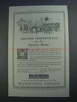 1913 The Grand Rapids Furniture Ad, Chinese Chippendale