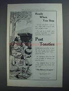 1913 Post Toasties Ad - Ready When You Stop