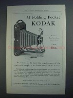 1913 Kodak 3A Folding Pocket Camera Ad - So Capable