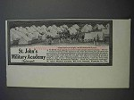1913 St. John's Military Academy Ad - Well-Drained Land