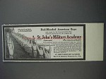 1913 St. John's Military Academy Ad - Red-Blooded Boys
