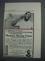 1913 Mennens Shaving Cream Ad - Half Inch of Cream