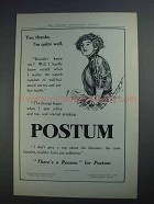 1912 Postum Cereal Ad - Yes, Thanks, I'm Quite Well
