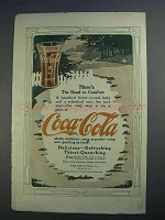 1912 Coca-Cola Soda Ad - Here's The Road to Comfort