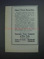 1912 Guaranty Trust Company of New York Ad - Securities
