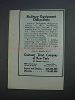 1912 Guaranty Trust Company of New York Ad - Railway