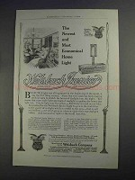 1912 Welsbach Junior Light Ad - Most Economical