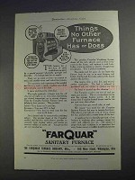 1912 Farquar Sanitary Furnace Ad - No Other Furnace Has