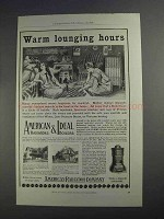 1912 American Radiator Company Ad - Lounging Hours