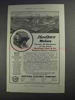 1912 Western Electric Hawthorn Motors Ad