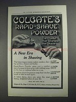 1912 Colgate Rapid-Shave Powder Ad - A New Era