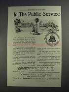 1912 AT&T Telephone Ad - In The Public Service