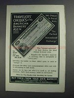 1912 American Bankers Association Travelers' Cheques Ad