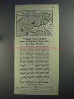 1925 Rand McNally Ad - Vinland Was Forgotten