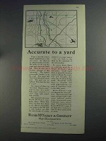 1925 Rand McNally Ad - Accurate to a Yard