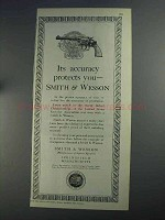 1925 Smith & Wesson Revolver Ad - Chicago Police Badge