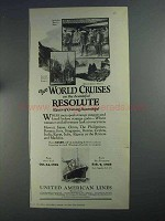 1925 United American Lines Ad - Beautiful Resolute