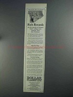 1925 Dollar Steamship Line Ad - Rich Rewards