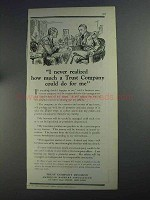 1925 A.B.A. Trust Company Division Ad - Never Realized