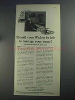 1925 A.B.A. Trust Company Division Ad - Your Widow