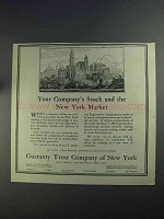 1925 Guaranty Trust Company of New York Ad - Stock