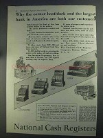 1925 National Cash Registers Ad - Our Customers