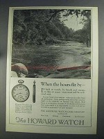 1925 The Howard Watch Ad - When Hours Flit By