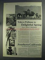 1925 Southern California Ad - Take a Pullman to Spring