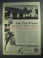 1925 Southern California Ad - Ask, This Winter