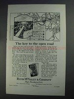 1925 Rand McNally Ad - The Key to the Open Road
