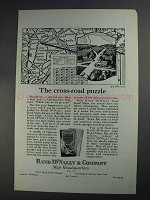 1925 Rand McNally Ad - The Cross-Road Puzzle