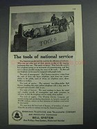 1925 Bell Telelphone Ad - Tools of National Service
