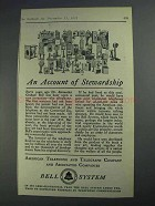 1925 Bell Telelphone Ad - An Account of Stewardship
