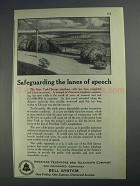 1925 Bell Telelphone Ad - Safeguarding Lanes of Speech