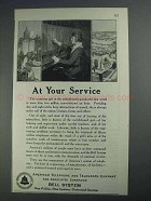 1925 Bell Telelphone Ad - At Your Service