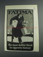 1925 Fatima Cigarettes Ad - The Most Skillful Blend