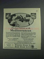 1925 White Star Line Red Star Line Ad