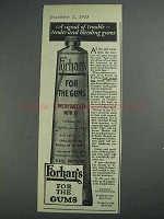 1925 Forhan's Toothpaste Ad - A Signal of Trouble