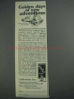 1925 Californians Inc Ad - Golden Days of Adventures