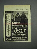 1925 Tycos Window Thermometer Ad - Dress Accordingly