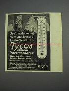 1925 Tycos Window Thermometer Ad - Dressed for Weather