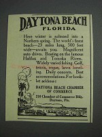1925 Daytona Beach Florida Ad